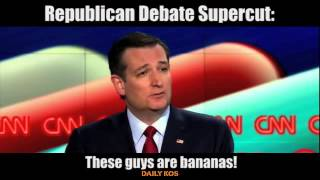GOP Debate Supercut: These Guys are Bananas