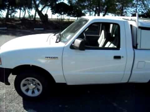 2008 Ford Ranger Xl Work Truck With Utility Camper Shell
