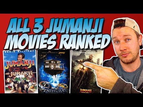 All 3 Jumanji Movies Ranked Worst To Best (w/ Jumanji: Welcome To The Jungle 2017 Movie Review)