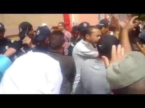 البوليس يقمع وقفة تضامنية مع شهيد مافيا العقار ببني ملال