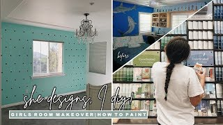 DIY Girls Bedroom Makeover | Phase 1: How to Paint A Room