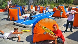 LARGEST real life NERF BATTLE ROYALE! (Last Alive, WINS!)