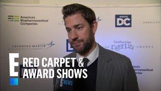 John Krasinski Has Thoughts on Dwayne Johnson's Personal Gym | E! Red Carpet & Award Shows