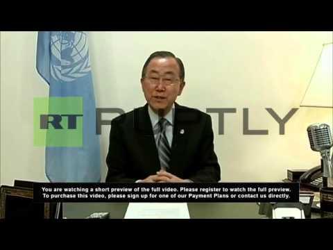 USA: Ban Ki-moon calls for calm on Ukraine