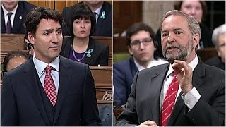 Mulcair grills Trudeau over tax havens
