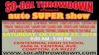 2018 SO-CAL THROWDOWN ANNUAL AUTO SUPER SHOW PROMO VIDEO!!!