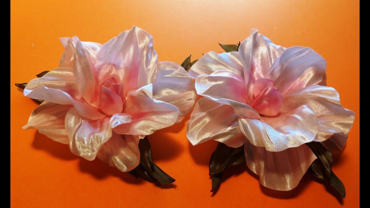 Цветок из тафты своими руками
