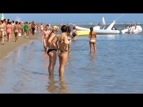 Rimini beach Italy Римини пляж Июль 2013