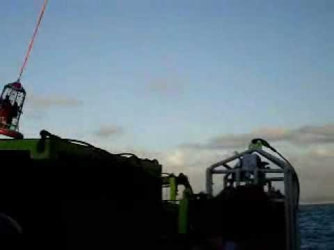 Transfer from ship offshore Brazil