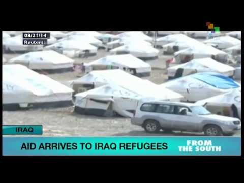 Aud arrives for Kurdish refugees in Iraq