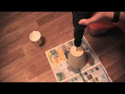 Как сделать отверстие в фарфоровой раковине