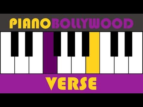 Manja [Kai Po Che] - Easy PIANO TUTORIAL - Verse 2 [Left Hand]