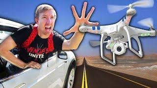 TESLA vs HACKER DRONE BATTLE (Hidden Secret Tunnel Car Chase)