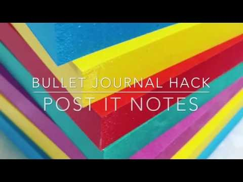Bullet Journal Hack: Post-it Notes