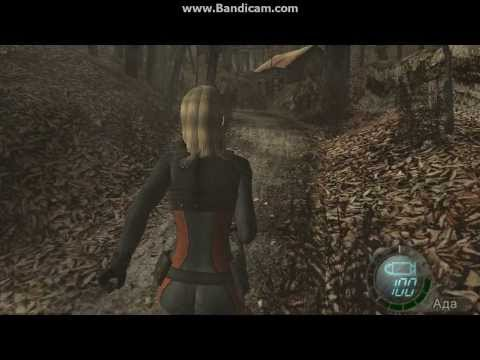 Sqwoll game in Resident Evil 4 mod Rachel