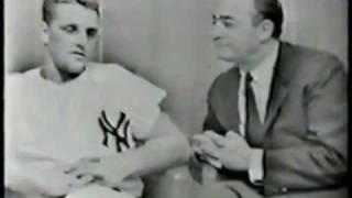 Roger Maris 1961 - Mel Allen-Roger Maris Interview, Yankee Stadium, WPIX-TV, 9/1961