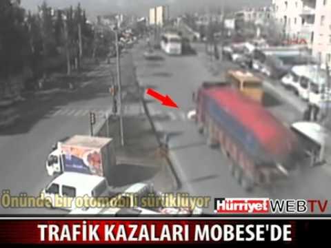Подборка аварий с камер наблюдения в г. Мерсин, Турция