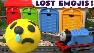 Explore Colors with Emoji Movie Toy Hunt by Thomas The Tank Engine & Tayo Garage  for kids  TT4U