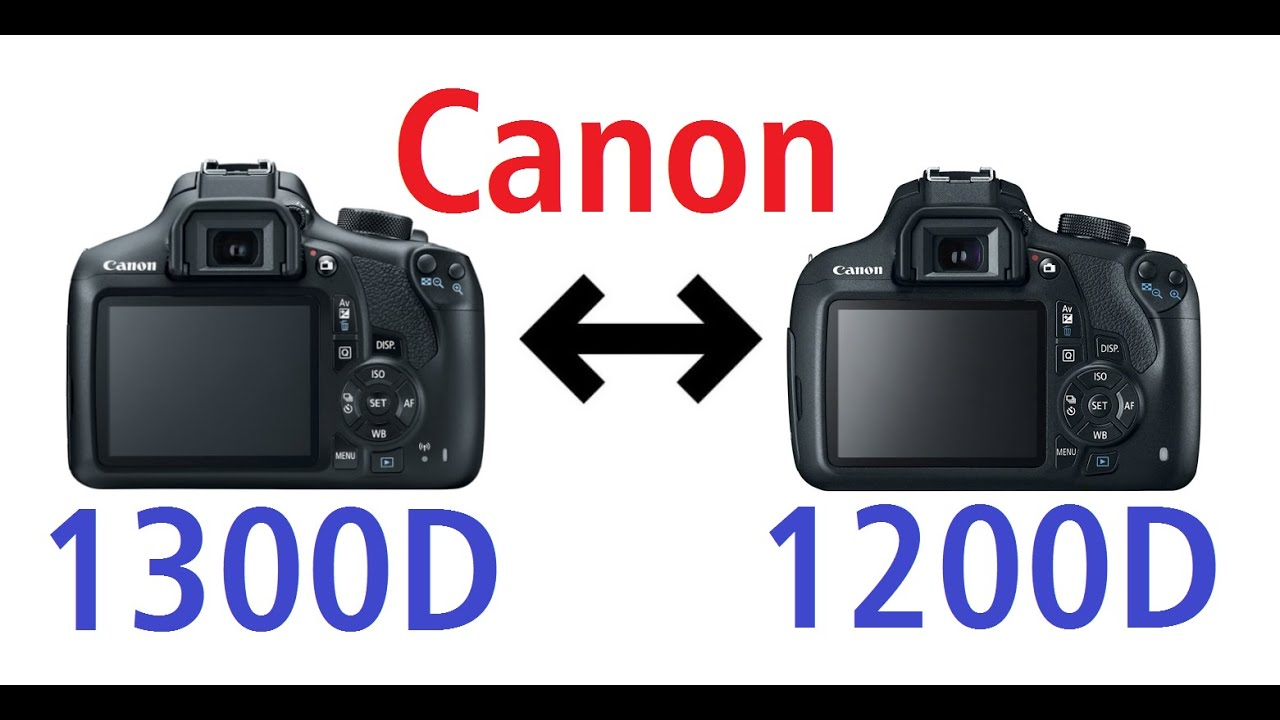 Focus on differences Canon EOS 1300D vs 1200D