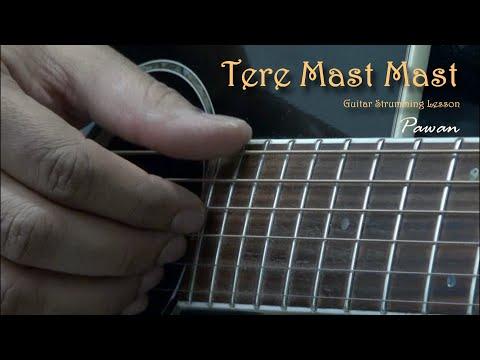 Tere Mast Mast Pee Loon & Man Lafanga - Guitar Chords Lesson...