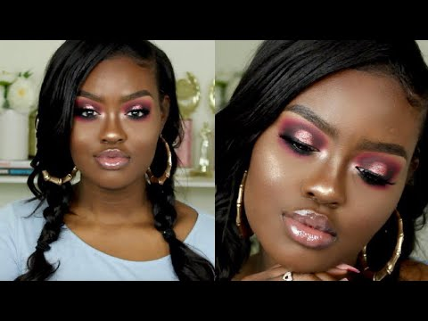 ANTI- Valentine's Day PINK Halo Smokey Eye Makeup Tutorial   Shanny Stephens