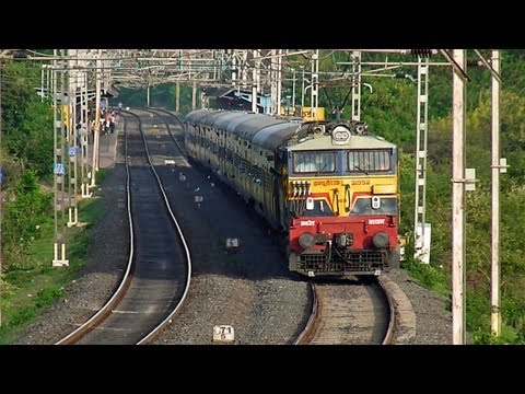 Fastest Pune-mumbai Train 12128 Intercity Express At Mps! video