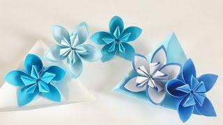 【折り紙】くす玉フラワー2種類 Origami flower