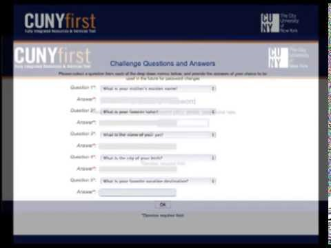 CUNYfirst - Getting an Account / First Time User