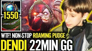 Dendi PUDGE Carry Top Lane Make Anti-Mage struggling with Power Treads Boot 😂