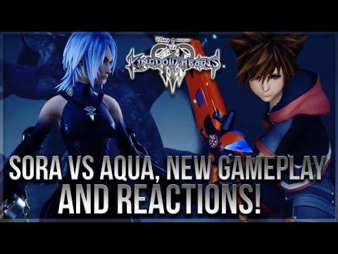 Kingdom Hearts 3 - SORA VS AQUA, NEW Gameplay and Reactions!