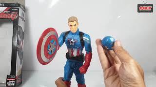 Mở hộp đồ chơi siêu anh hùng Captain America Figures Toys