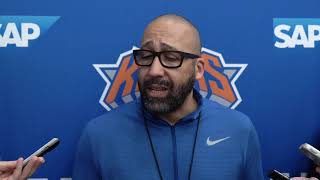 Knicks Training Camp 2019: Coach Fizdale Speaks on Day 4