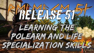 Learning The Polearm & Life Specialization Skills • Shroud Of The Avatar Release 51