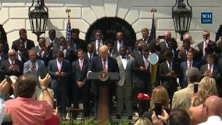 President Trump Welcomes the 2016 NCAA Football National Champions: The Clemson Tigers