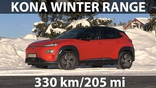 Hyundai Kona winter range and noise