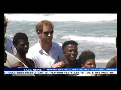 Prince Harry visited a development project in Durban