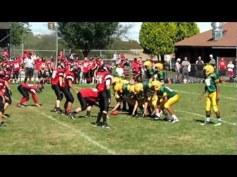 #30 Russell, #71 Jordan Smith, #9 A.J. Greene Norwalk, Ct. Youth Football