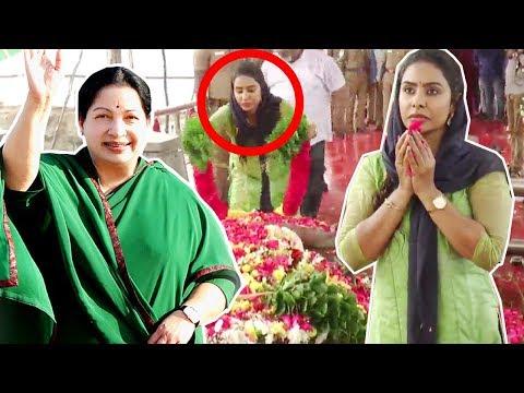 என்னோட Inspiration ஜெயலலிதா தான் | Sri Reddy | Jayalalitha Memorial