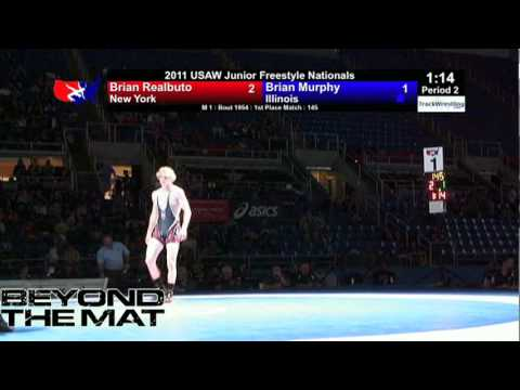 Junior Freestyle Final 145   Brian Realbuto NY vs  Brian Murphy IL