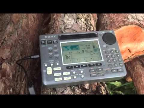 Radio New Zealand International 9700 KHz excellent signal Sony ICF-SW55