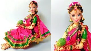 Doll-6   Newspaper Doll   South Indian Bridal Making   Best Out Of Waste   DIY   By Punekar Sneha