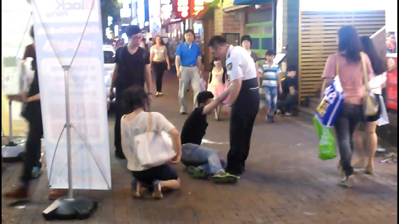 Korean drunken girl part3 - YouTube