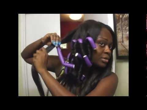 Hair Tutorial Beautiful Bouncy Curls Using Flexi Rods