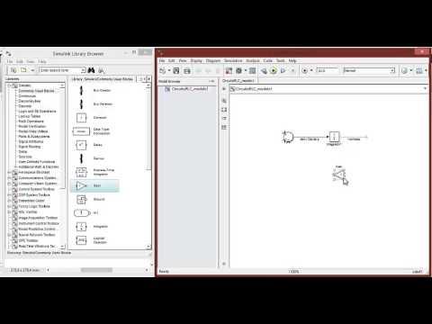 Modelo circuito RLC en Simulink de Matlab 2012