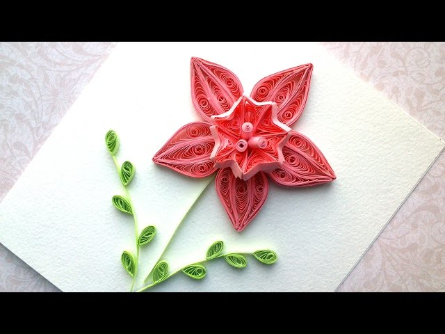 Quilling design Ideas  How to make a paper Quilling design flower. Quilling tutorial.