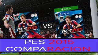 PES 2015! COMPARACION PC VS PS4