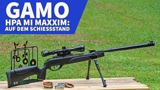 GAMO HPA MI MAXXIM: Das Kipplauf-Luftgewehr auf dem Schießstand