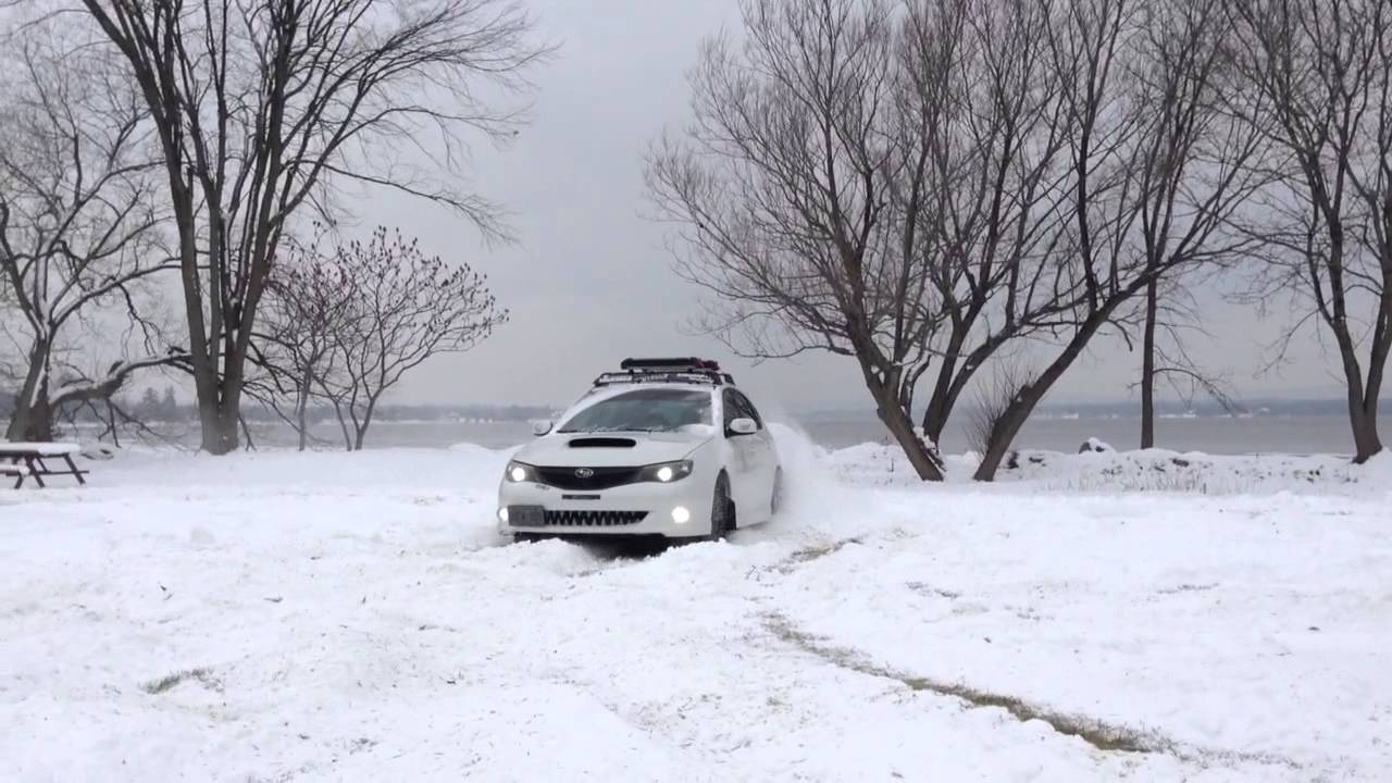 Subaru Wrx Drifting in Snow