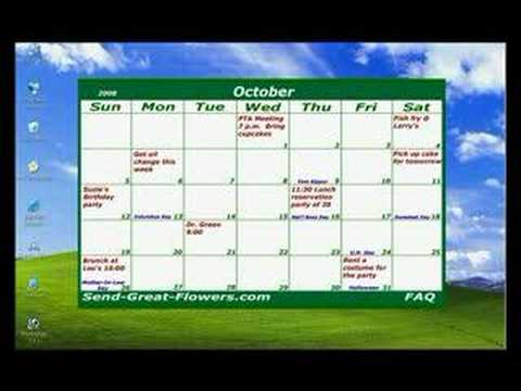 2008 free download desktop calendar youtube for Computer planner software