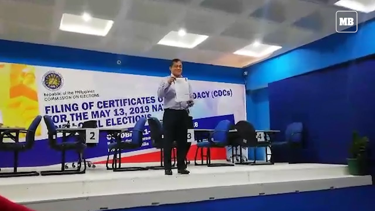 Lawyer of former Senator Juan Ponce Enrile files CoC on his behalf
